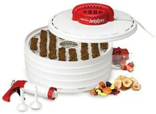 Food Dehydrator 4-Tray 350-Watt Fixed Temperature Output with 3 Tip Attachments