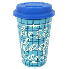 Lovely Colourful Blue Best Dad Ever Travel Mug Ideal Fathers Day Gift