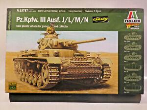 Italieri 15757 Pz. Kpfw. III Ausf. J/L/M/N  1:56 / 28mm OVP/MIB inkl. Vers in D