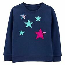OshKosh BGosh Girls Kids Youth Flip Sequins Crew Fleece...
