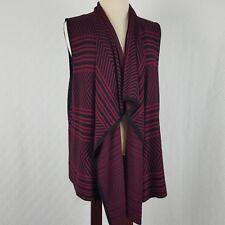 Spense Knits Womens Sweater Vest Asymmetrical Hem Black & Red Size XL