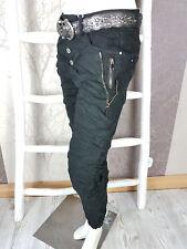 Karostar Baggy Boyfriend Jeans doppelte Reißverschlüße 4 Farben Gr.38-48