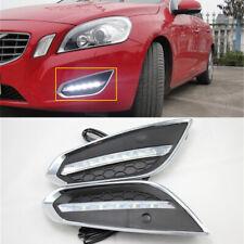 Fit For 2011-2013 Volvo S60 Front Bumper Fog Lamp LED Daytime Running Lights 2Pc