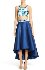 MAC DUGGAL PRINT TWO-PIECE 10 ROYAL MULTI MIDI DRESS $278