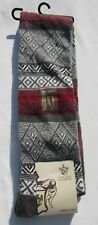 NWT Calze Scanzi Italy Women's One Size Over The Knee Grey Red Juliet Socks