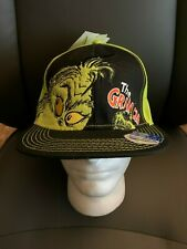 New with Tags NWT Dr Seuss The Grinch Snapback Flat Brim Bill Hat