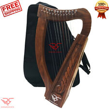 12 String Irish Harp Sheesham Wood │FREE >> [Carry Bag,String Set & Tuning Key]