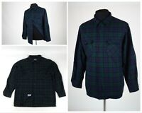Men's PENDLETON Plaid Virgin Wool Long Sleeve Fitted Board Shirt Green Size L