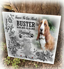 Ceramic tile grave marker, Small headstone, Dog or any pet, Cemetery or home use