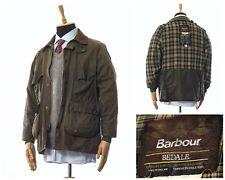Vintage Mens BARBOUR BEDALE Wax Waxed Jacket Coat Green Size C42/107cm