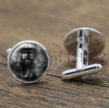 Cufflinks Glass Silver Doctor Who Time Machine New & Sealed