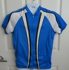 Men's Rei Bike Jersey Cycling Shirt Size Large L Pockets Pullover 3/4 Zip Blue