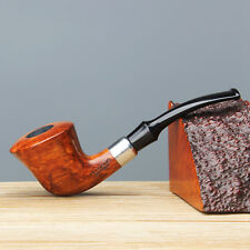 Pipe-Solid Redwood Classic Bent Style Tobacco/Smoking Pipe with 10 filters