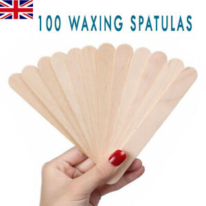 100 x Wax Spatulas Professional Disposable Wooden Waxing Wax Sticks