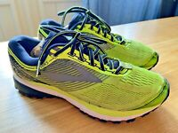 Brooks Ghost 10 Athletic Running Shoes Trainers 7.5 D Black Lime 1102571D706