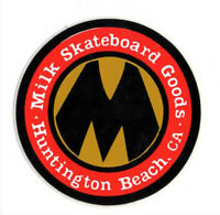Vtg NOS Milk Skateboard Goods Sticker Decal Skate Shop Huntington Beach CA