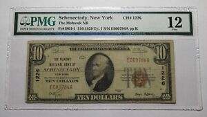 $10 1929 Schenectady New York NY National Currency Bank Note Bill! #1226 PMG F12