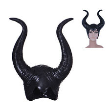 Halloween Latex Maleficent Horns Women Party Costume Jolie Cosplay Magic Horror.