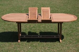 """94"""" OVAL MASC TABLE A GRADE TEAK WOOD GARDEN OUTDOOR DINING FURNITURE POOL PATIO"""