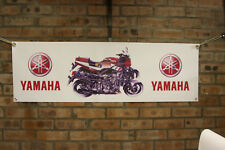yamaha fz750   large pvc  garage work shop banner  show banner