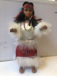 Rare Antique Vintage Native American Indian Maiden Doll
