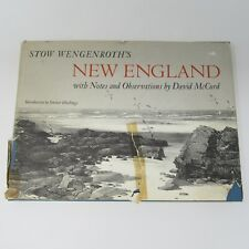 vtg Stow Wengenroth Art Book New England with Observations by David McCord 1969