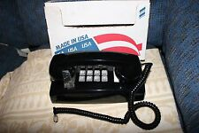 New NOS Vintage Cortelco ITT Touch Tone Wall Phone Telephone Black Mint