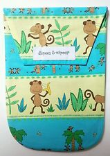 New Diapees and Wipees Diaper and Wipes Clutch Bag Funky Monkey Print