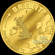 BREXIT COIN - HALF GRAM 24K GOLD PROOF - JUNE 23 2016 - Cook Islands $5 UK/EU