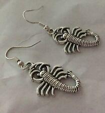 scorpion Charm Earrings,3d Zodiac Scorpio Sign,October November Lizard Serpant
