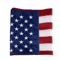 Large 5'x8' Indoor Outdoor Embroidered US American Flag Sewn Stripes & Stars USA