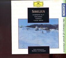 Sibelius / Symphony No.5 - FinLandia - Tapiola - Valse Triste - Karajan - MINT