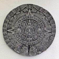 Wandrelief Steinplatte Bild Azteken Kalender Maya Kalender Steinguss frostfest
