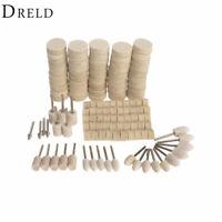 Polishing Wheel Dremel Brush Accessories Wool Felt Metal Jewelry Polish 129 Pcs