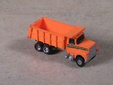 N Scale 2004 Orange Ford Dump Truck with orange back.
