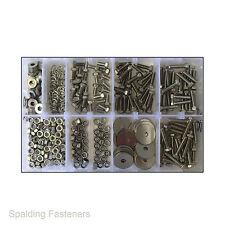 Assorted M5 Metric A2 Stainless Steel Set Screw Bolts, Nuts & Washers
