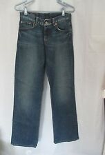 Lucky Easy Rider women's stretch jeans flare low rise sz 2/26 button closure