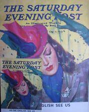 ORIG 1941 LG 22X28 SEP NEWSSTAND DISPLAY POSTER PRETTY LADY CAT PIN JOHN LAGATTA