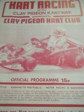 CLAY PIGEON KARTWAY PROGRAMME 1979 KARTING ZIP BARLOTTI LANE BM KESTREL GEOFF