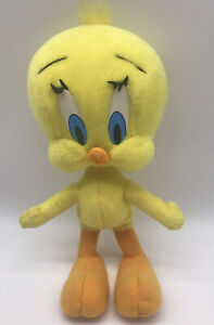 "Looney Tunes Tweety Bird 10"" Plush Poseable Doll Vintage 1997 Bendable Bird BP6"