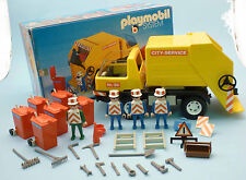 PLAYMOBIL System 3470 City Service Garbage Truck - REALLY COMPLETE set w/ box