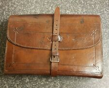 A GOOD LARGE ANTIQUE SALMON FLY WALLET