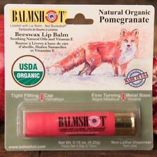 BALMSHOT Beeswax Lip Balm - Natural Organic Pomegranate - NEW!!