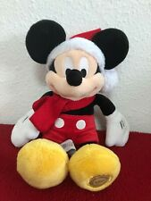 Disney Store Christmas  Santa Hat Mickey Mouse Soft Toy 33cm
