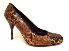 STUART WEITZMAN Size 8 Brown Snake Heels Pumps Shoes