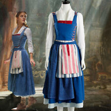 2017 Film Beauty and the Beast Belle Emma Watson Costume Maid Dress Cosplay