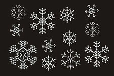 Snowflake Decoration Rhinestone iron on Bling Transfer DIY Hot fix Applique