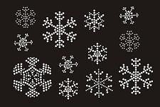 Snowflake Decoration Rhinestone iron on Bling Transfer DIY Hot fix Applique