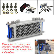 Motorcycle Aluminum Oil Cooler Radiator Kit Fit For 50 70 90 110CC Type  Machine