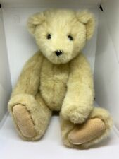 """Vintage 1995 The VERMONT TEDDY Co BEARS PLUSH Beige Jointed BEAR 12"""" Poseable"""